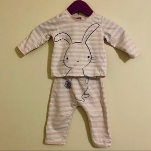 BABY GIRL PAJAMA SET 6-9M
